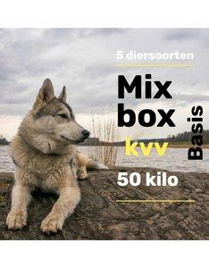 5 dieren compleet vers vlees pakket 50 kilo