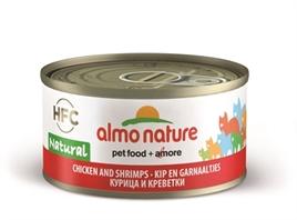 Almo Nature Cat Kip/Garnaal 70 gr